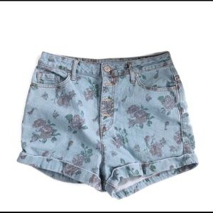 BDG Super High Rise Foxy Floral Shorts Size 29